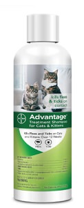 Advantage Flea and Tick Treatment Shampoo for Cats and Kittens