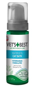 Vet's Best Waterless Cat Bath – Dry Shampoo for Cats