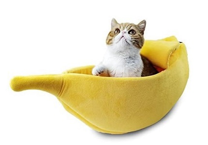 Petgrow Banana shaped Cat House and Bed