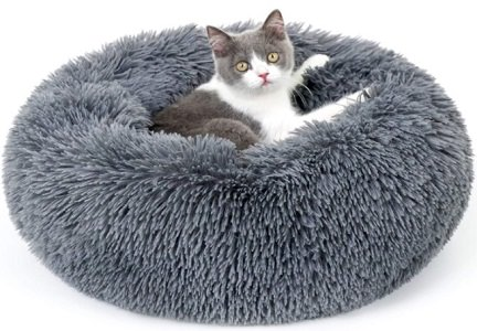Rabbitgoo Fluffy Round kitten Bed