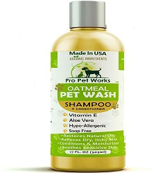 Pro Pet Works All Natural Organic 5 in One Oatmeal Pet Shampoo