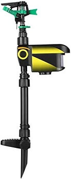BSTOOL Solar Scarecrow Motion Activated Sprinkler Water Animal Repellent - Copy
